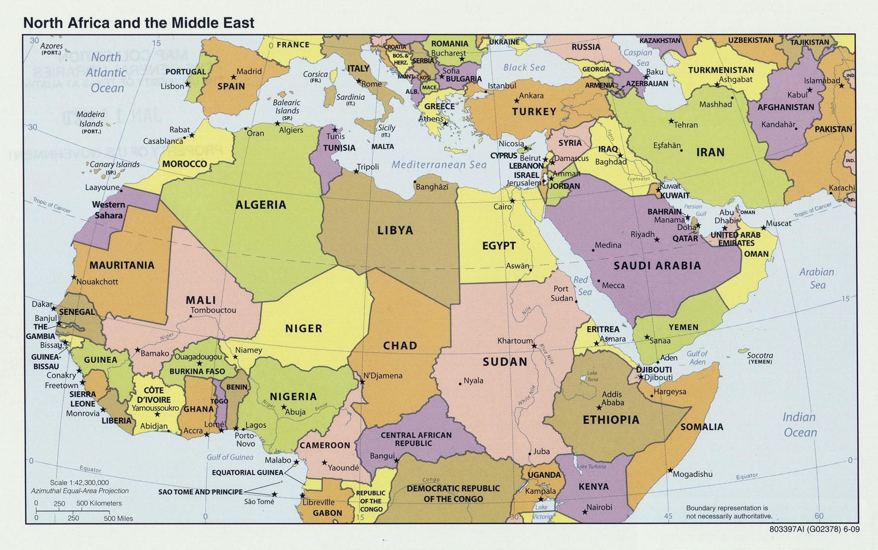 kart over nord afrika Verdenskart   Kart Afrika   Online kart over Nord Afrika 2009 kart over nord afrika